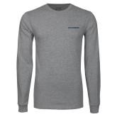Grey Long Sleeve T Shirt-Charleston Southern Buccaneers