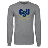 Grey Long Sleeve T Shirt-Primary Athletic Mark