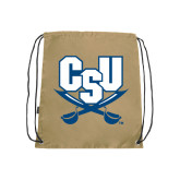 Nylon Vegas Gold Drawstring Backpack-CSU-Swords Logo
