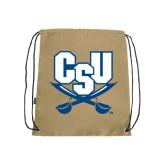 Nylon Vegas Gold Drawstring Backpack-CSU-Swords Logo