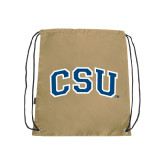Nylon Vegas Gold Drawstring Backpack-CSU Arched