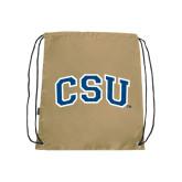 Nylon Vegas Gold Drawstring Backpack-CSU Arched