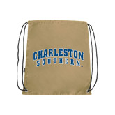 Nylon Vegas Gold Drawstring Backpack-Charleston Southern Arched