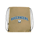 Nylon Vegas Gold Drawstring Backpack-Buccaneers Arched
