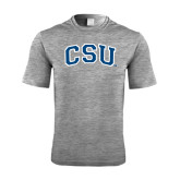 Performance Grey Heather Contender Tee-CSU Arched