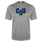 Performance Grey Heather Contender Tee-Primary Athletic Mark