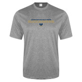 Performance Grey Heather Contender Tee-Charleston Southern Buccaneers Stacked w/ Logo