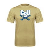 Syntrel Performance Vegas Gold Tee-CSU-Swords Logo
