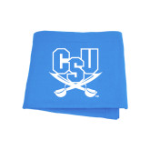 Light Blue Sweatshirt Blanket-CSU-Swords Logo
