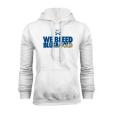 White Fleece Hood-We Bleed Blue & Gold