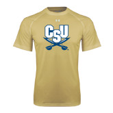 Under Armour Vegas Gold Tech Tee-CSU-Swords Logo