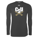 Under Armour Carbon Heather Long Sleeve Tech Tee-Primary Athletic Mark