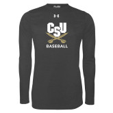 Under Armour Carbon Heather Long Sleeve Tech Tee-Baseball