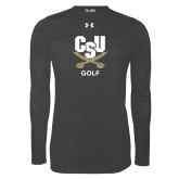 Under Armour Carbon Heather Long Sleeve Tech Tee-Golf