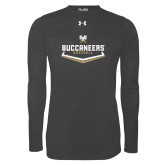 Under Armour Carbon Heather Long Sleeve Tech Tee-Baseball Plate