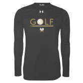Under Armour Carbon Heather Long Sleeve Tech Tee-Golf Star w/ Bars