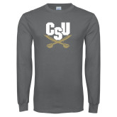 Charcoal Long Sleeve T Shirt-Primary Athletic Mark
