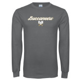 Charcoal Long Sleeve T Shirt-Buccaneers Script