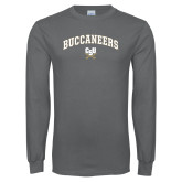Charcoal Long Sleeve T Shirt-Arched Buccaneers