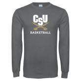Charcoal Long Sleeve T Shirt-Basketball