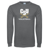 Charcoal Long Sleeve T Shirt-Volleyball