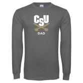 Charcoal Long Sleeve T Shirt-Dad