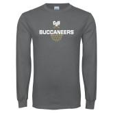 Charcoal Long Sleeve T Shirt-Sharp Net Basketball