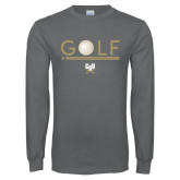 Charcoal Long Sleeve T Shirt-Golf Star w/ Bars