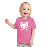 Toddler Fuchsia T Shirt-Primary Athletic Mark