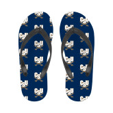 Ladies Full Color Flip Flops-CSU-Swords Logo