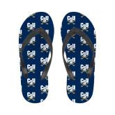 Ladies Full Color Flip Flops-Primary Athletic Mark