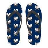 Full Color Flip Flops-CSU-Swords Logo