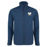 Navy Softshell Jacket-CSU-Swords Logo