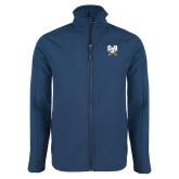 Navy Softshell Jacket-Primary Athletic Mark