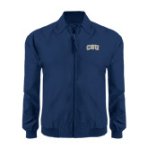 Navy Players Jacket-CSU Arched