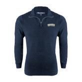 Navy Rib 1/4 Zip Pullover-Charleston Southern Arched