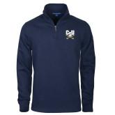Navy Slub Fleece 1/4 Zip Pullover-Primary Athletic Mark