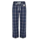 Navy/White Flannel Pajama Pant-Primary Athletic Mark