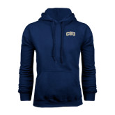 Navy Fleece Hood-CSU Arched