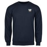 Navy Fleece Crew-Primary Athletic Mark