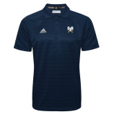 Adidas Climalite Navy Jacquard Select Polo-Primary Athletic Mark