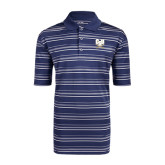 Adidas Climalite Navy Textured Stripe Polo-CSU-Swords Logo