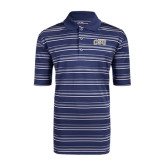 Adidas Climalite Navy Textured Stripe Polo-CSU Arched