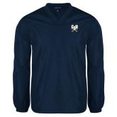 V Neck Navy Raglan Windshirt-Primary Athletic Mark