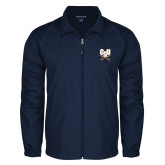 Full Zip Navy Wind Jacket-CSU-Swords Logo