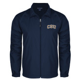 Full Zip Navy Wind Jacket-CSU Arched