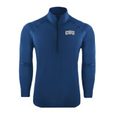 Sport Wick Stretch Navy 1/2 Zip Pullover-CSU Arched