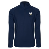 Sport Wick Stretch Navy 1/2 Zip Pullover-Primary Athletic Mark