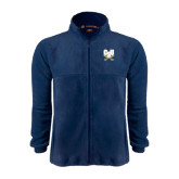 Fleece Full Zip Navy Jacket-CSU-Swords Logo