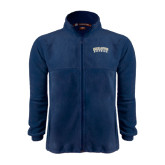 Fleece Full Zip Navy Jacket-Charleston Southern Arched